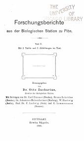 Forschungsberichte aus der Biologischen Station zu Plön: Bände 7-9
