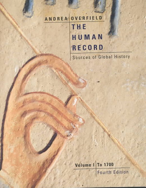 The Human Record  To 1700