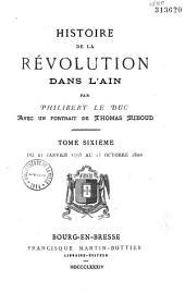 Histoire de la Révolution dans l'Ain: Volume6