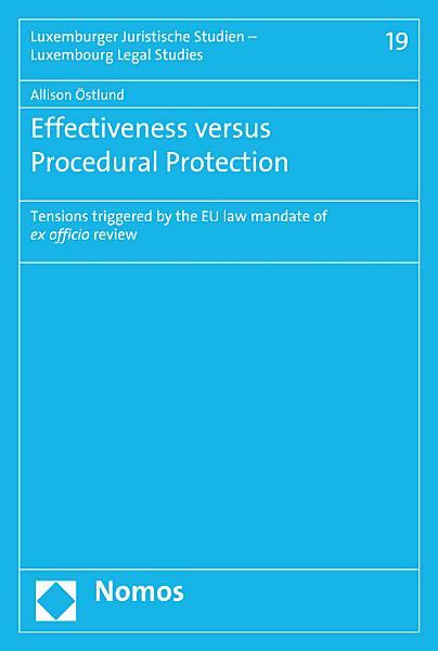 Download Effectiveness versus Procedural Protection Book