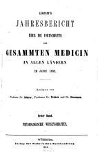 Canstatt s Jahresbericht   ber die Fortschritte der gesammten Medicin in allen L  ndern PDF