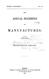 Annual Report on the Statistics of Manufactures