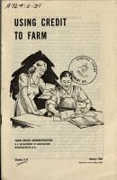 Using Credit to Farm PDF