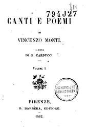Canti e poemi a cura di G. Carducci: Volume 1