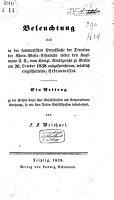 Beleuchtung des in der summarischen Prozeszsache der Direction der Rhein Weser Eisenbahn wider den Kaufmann C E   vom K  nigl  Staatsgericht zu Berlin am 26 October 1838 ausgesprochenen Erkentnisses PDF
