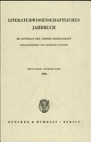 Literaturwissenschaftliches Jahrbuch PDF