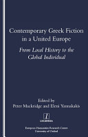 Contemporary Greek Fiction in a United Europe