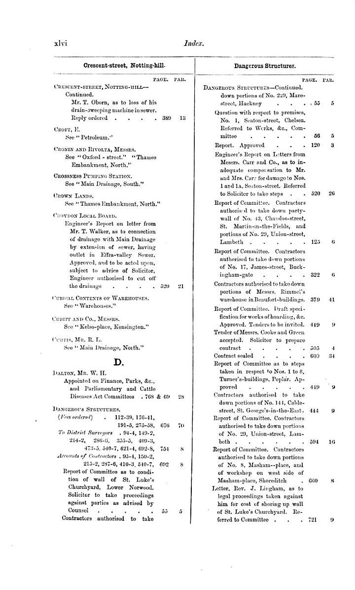 Minutes of Proceedings of the Metropolitan Board of Works
