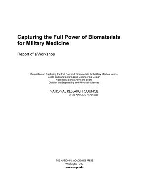 Capturing the Full Power of Biomaterials for Military Medicine