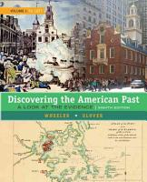 Discovering the American Past  A Look at the Evidence  Volume I  To 1877 PDF