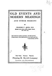 Old Events and Modern Meanings: And Other Sermons