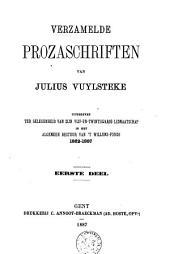 Verzamelde prozaschriften: Volume 1