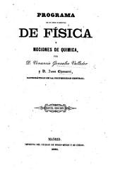 Programa de un curso elemental de Fisica y nociones de Quimica ... Quinta edicion