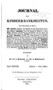 Journal für Kinderkrankheiten: Bände 38-39