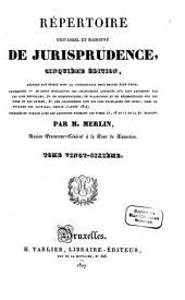 Répertoire universel et raisonné de jurisprudence: Pui - Rap, Volume26