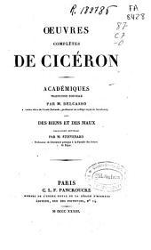 Oeuvres complètes de Cicéron: Académiques