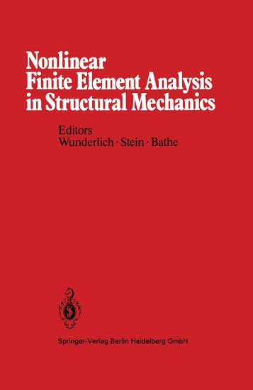 Nonlinear Finite Element Analysis in Structural Mechanics PDF