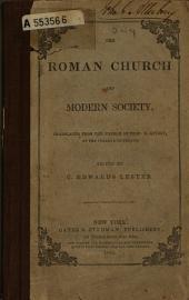 The Roman Church and Modern Society