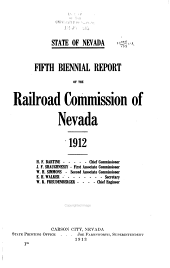 Reports of the Railroad and Public Service Commissions of Nevada: Volumes 5-6