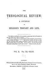 The Theological Review: Volume 10
