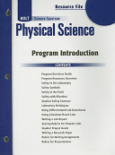 Holt Science Spectrum Physical Science Resource File  Program Introduction PDF