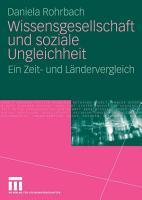 Wissensgesellschaft und soziale Ungleichheit PDF
