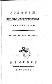 Formulæ medicamentorum usitatiores