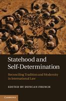 Statehood and Self Determination PDF