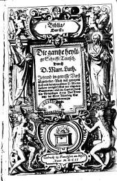 Biblia, Das ist, Die gantze heylige Schrifft Teutsch