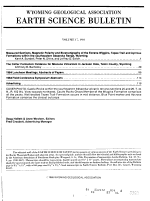 Earth Science Bulletin PDF
