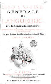 Histoire générale de Languedoc avec des notes et les pièces justificatives