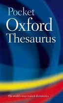 Pocket Oxford Thesaurus Book PDF