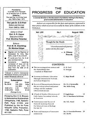 The Progress of Education PDF