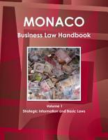 Monaco Business Law Handbook Volume 1 Strategic Information and Basic Laws PDF