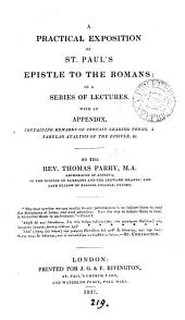 A practical exposition of st. Paul's Epistle to the Romans: lectures