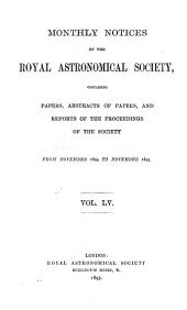 Monthly Notices of the Royal Astronomical Society: Volume 55; Volumes 1894-1895