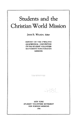 Students and the Christian World Mission PDF