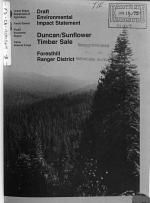 Tahoe National Forest (N.F.) Duncan/Sunflower Timber Sale, Foresthill Ranger District