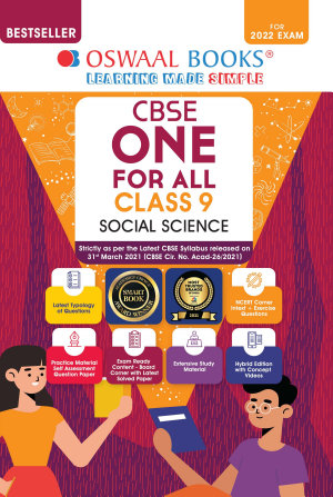 Oswaal CBSE One for All Class 9 Social Science  For 2022 Exam