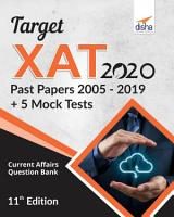 Target XAT 2020  Past Papers 2005   2019   5 Mock Tests  11th Edition PDF