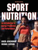 Sport Nutrition 2nd Edition   PDF
