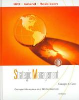 Strategic Management  Competitiveness and Globalization  Concepts and Cases PDF