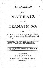 The Mother's Catechism for the Young Child. Leabhar-Ceist Na Mathair Do 'n Leanabh Og. Eng. and Gæl