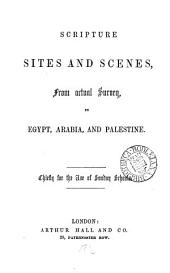 Scripture sites and scenes ... in Egypt, Arabia, and Palestine [by W.H. Bartlett].