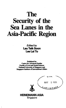 The Security of the Sea Lanes in the Asia Pacific Region PDF