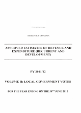 Approved Estimates of Revenue and Expenditure  recurrent and Development      for the Year Ending on the     PDF