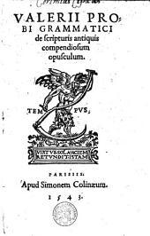 De scripturis antiquis compendiosum opusculum