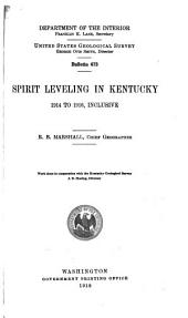 Spirit Leveling in Kentucky, 1914 to 1916, Inclusive