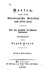 Norica: das sind Nürnbergische Novellen aus alter Zeit, Bände 1-2