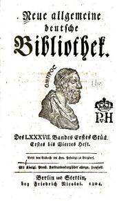 Neue allgemeine deutsche Bibliothek: Band 87